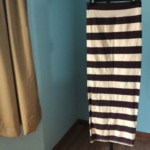 Free People strips long skirt